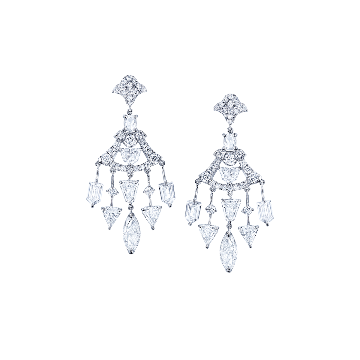 3.97克拉 白鑽耳環
