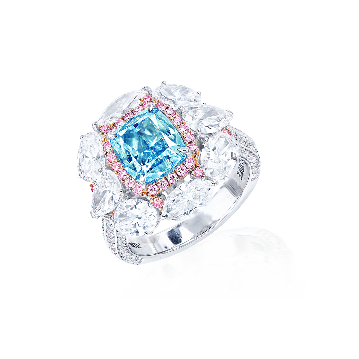 GIA 3.01克拉 綠藍鑽鑽戒