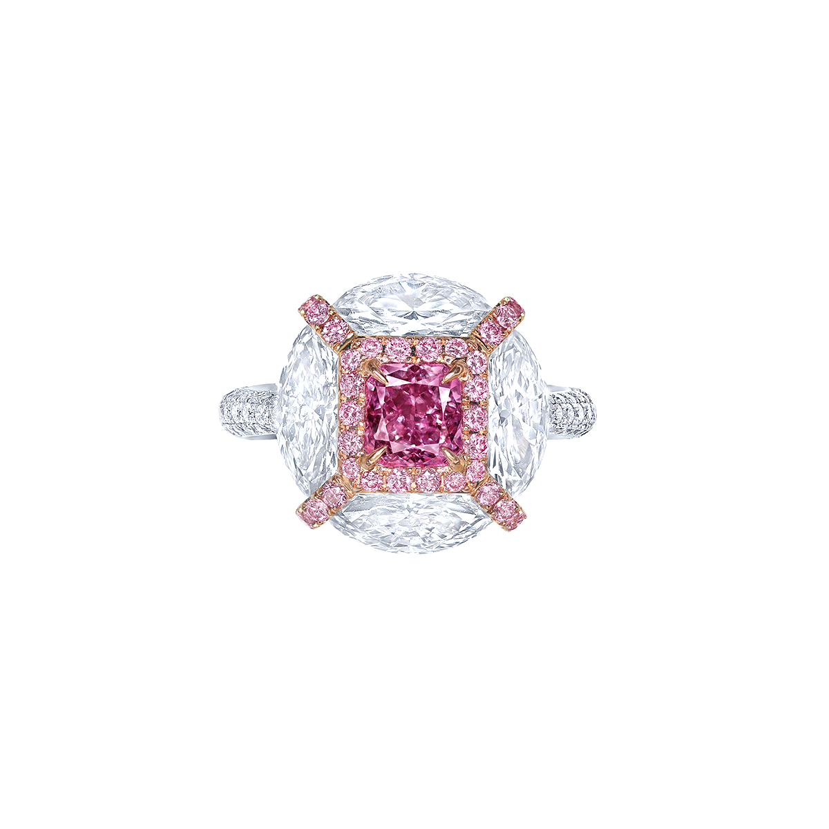 GIA 1.02克拉 濃彩粉紫鑽鑽戒