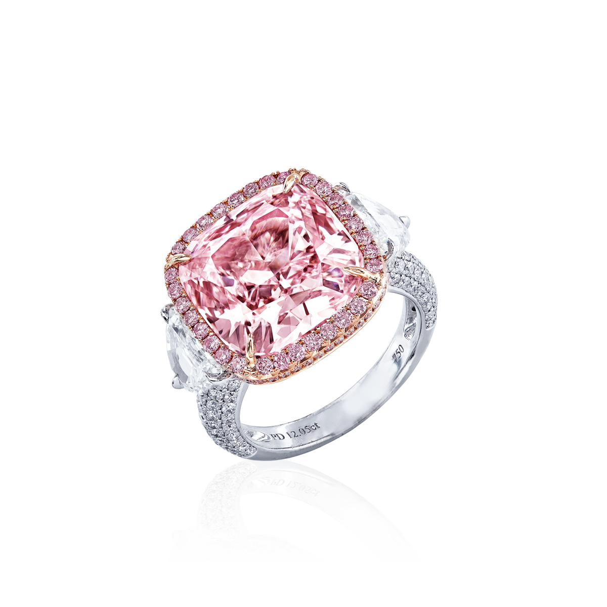 GIA 12.05克拉粉鑽鑽戒