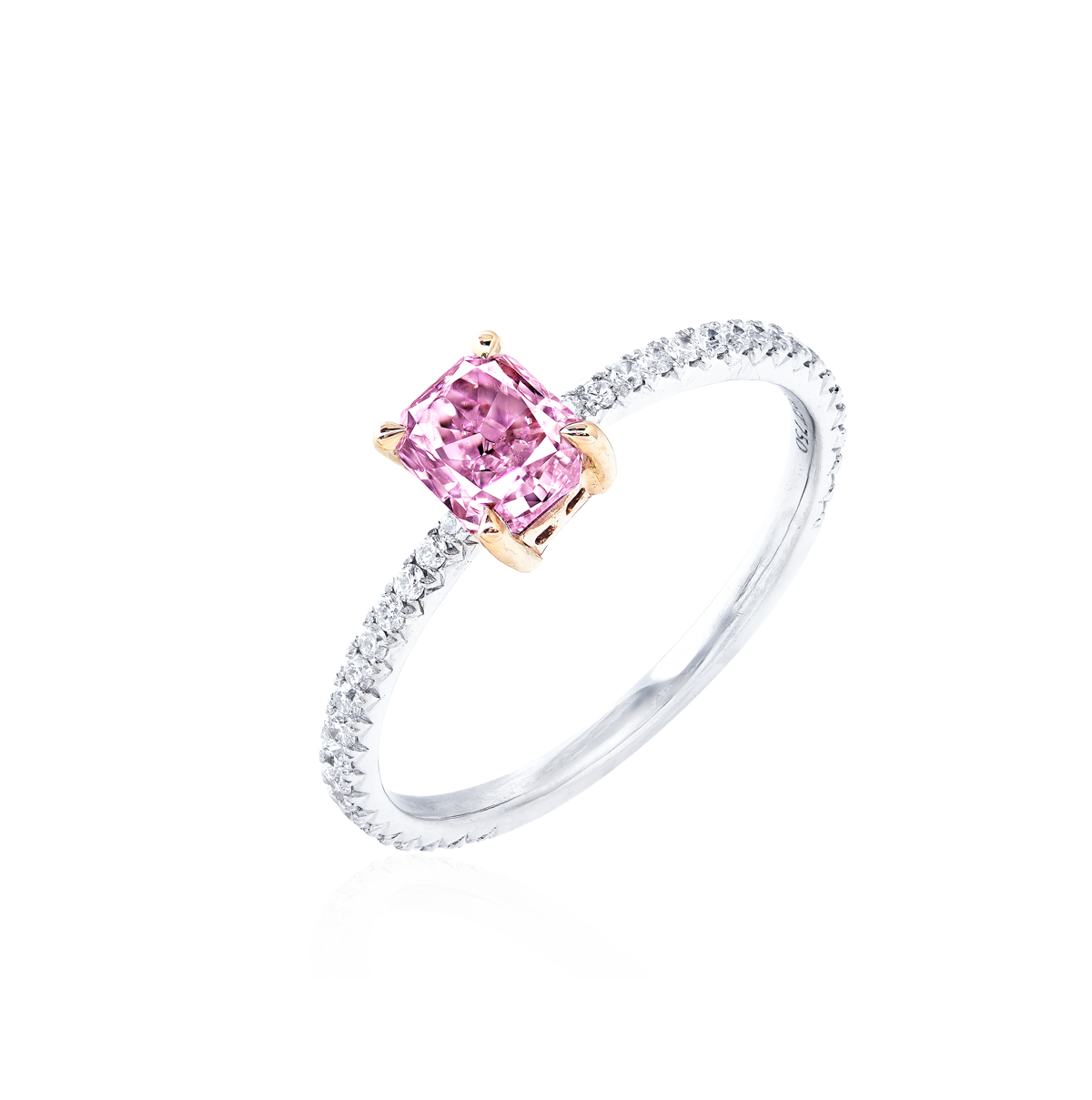 GIA 0.83克拉 ALROSA 紫鑽鑽戒