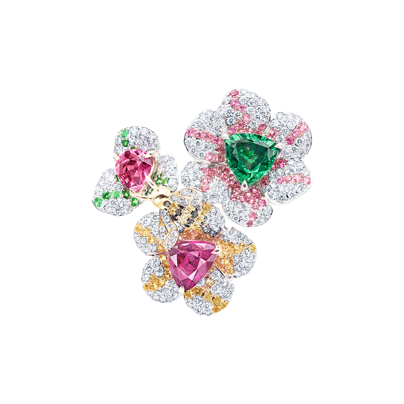 6.07克拉 彩寶花戒