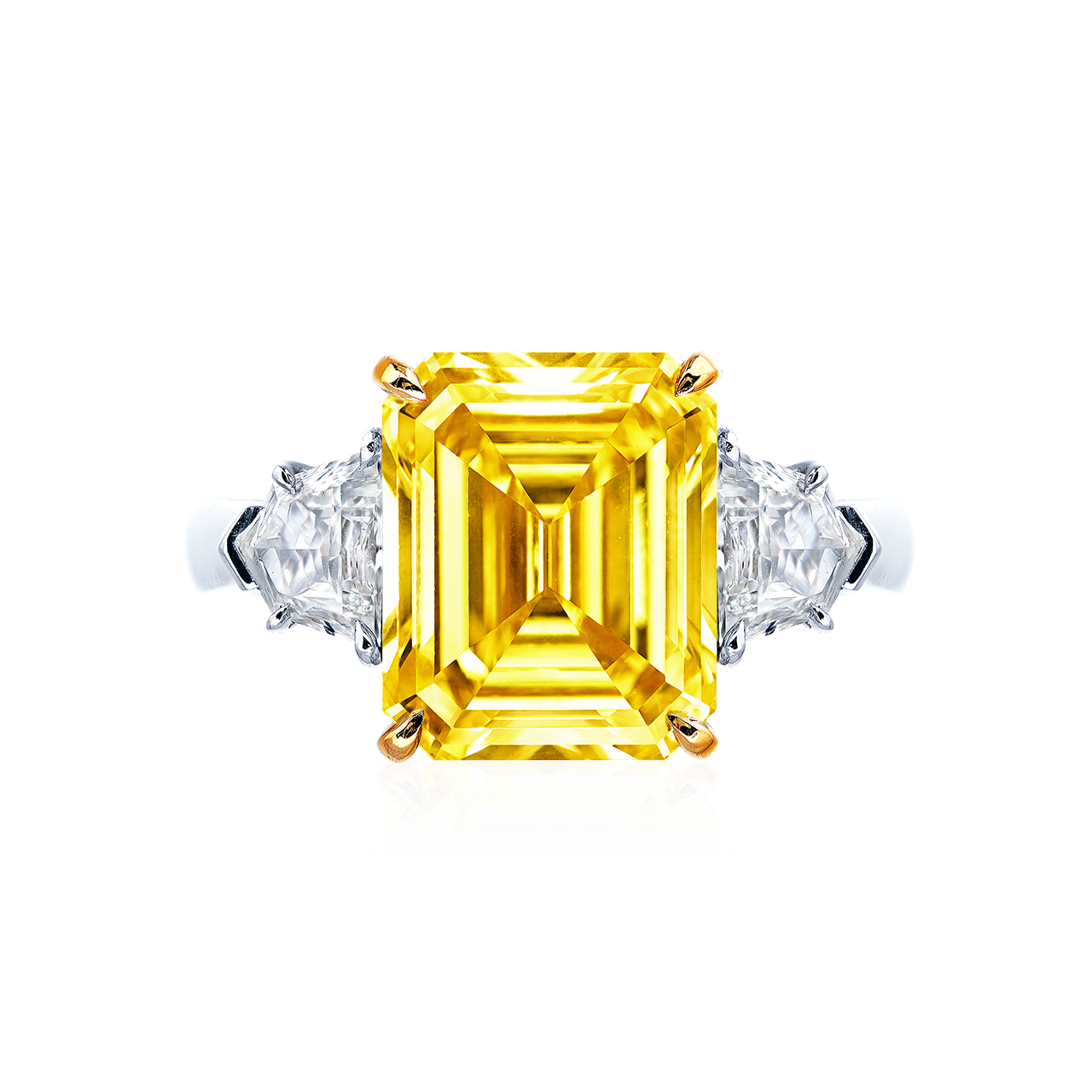 GIA 5.07克拉 艷彩黃鑽鑽戒