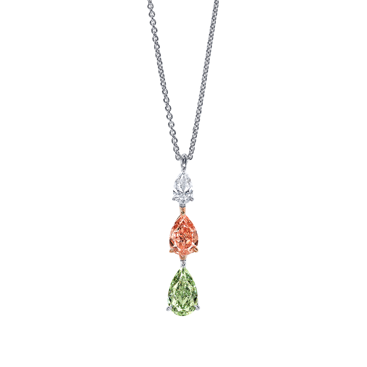GIA 5.91克拉 彩鑽鑽石墜鍊