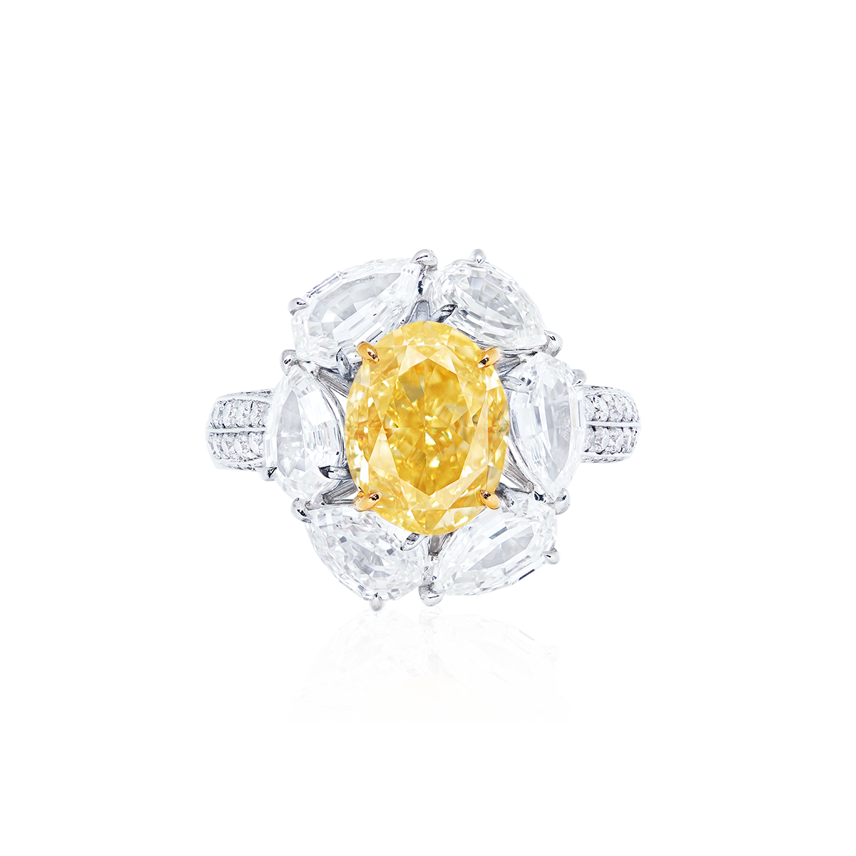 GIA 3.02克拉濃彩黃鑽鑽戒