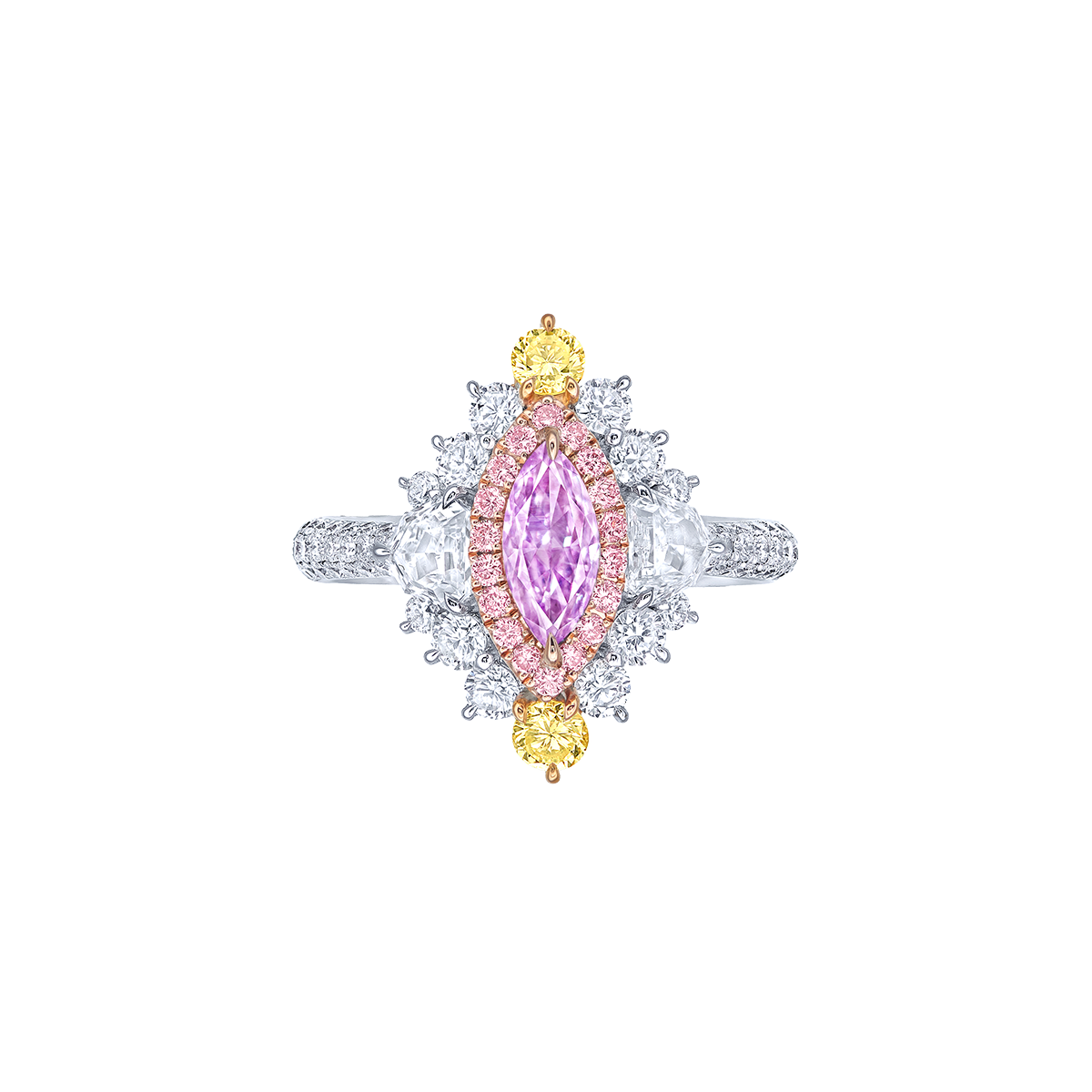 GIA 0.50克拉 ALROSA 粉紫鑽鑽戒