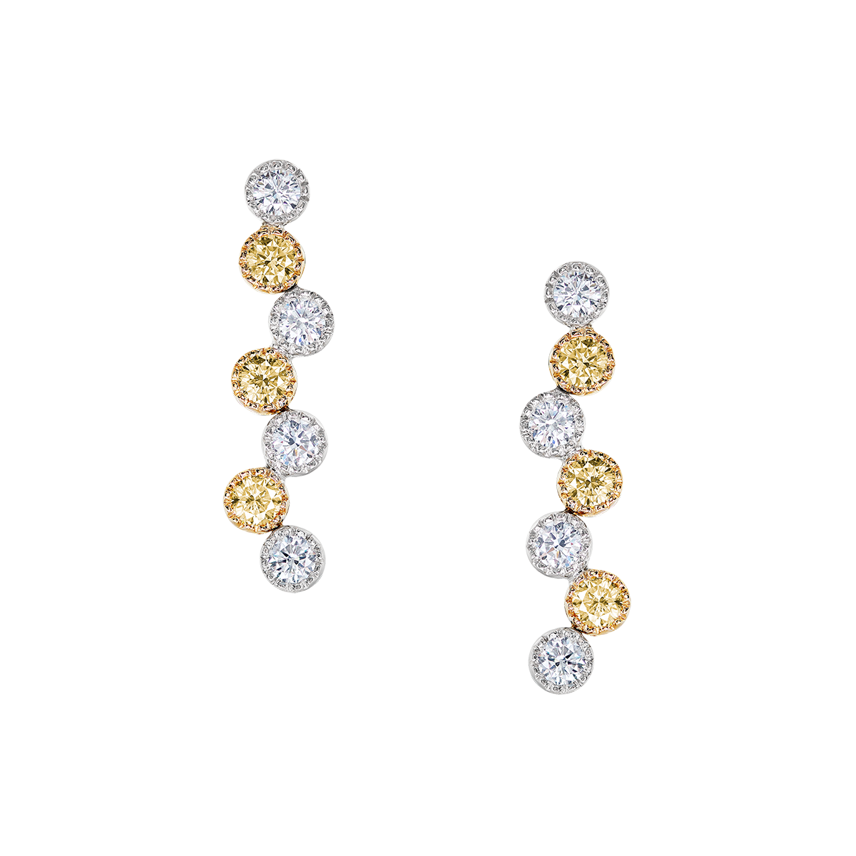 1.04克拉 黃鑽耳環