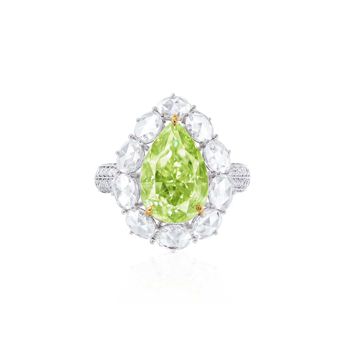GIA 5.53 克拉黃綠鑽鑽戒