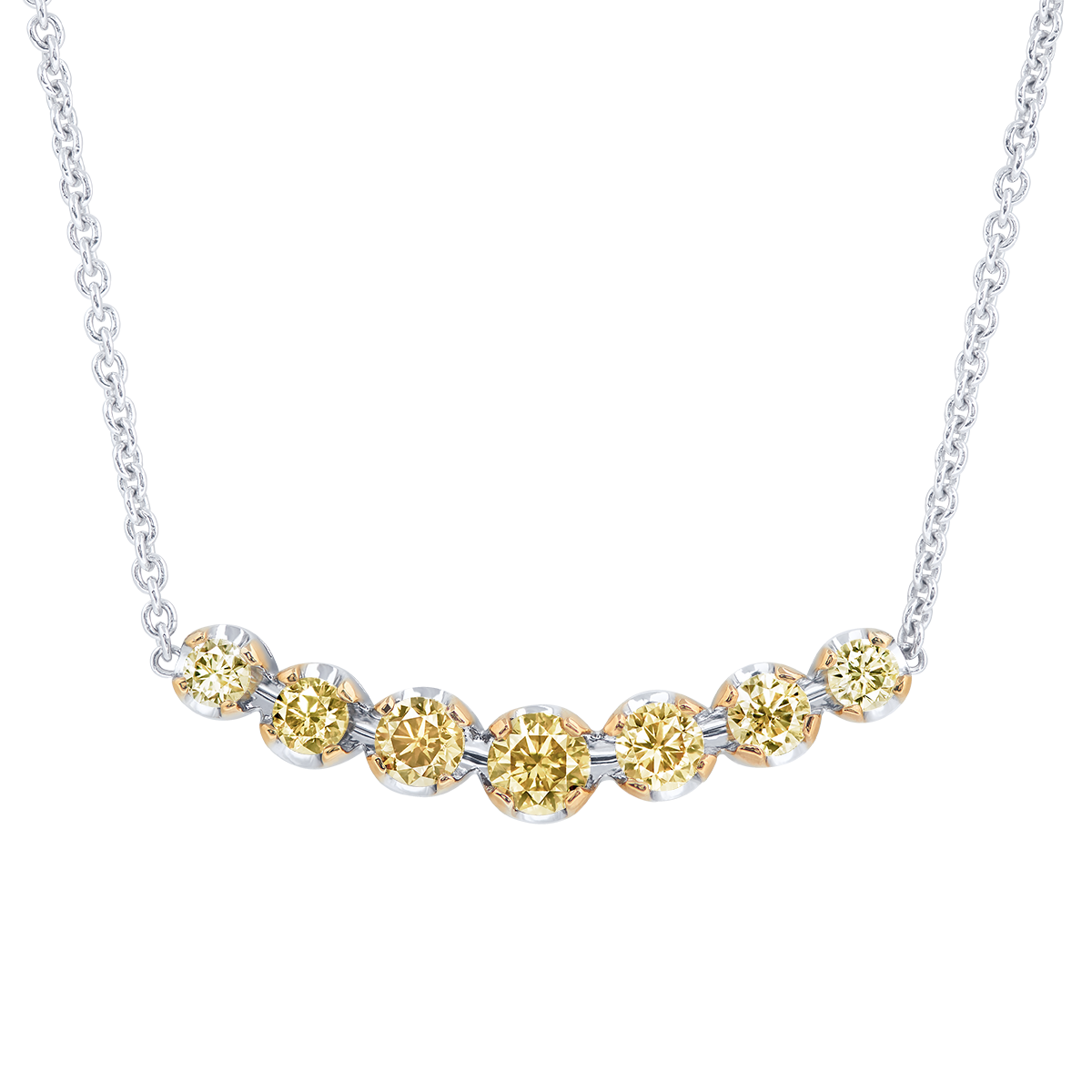 1.09克拉 黃鑽套鍊