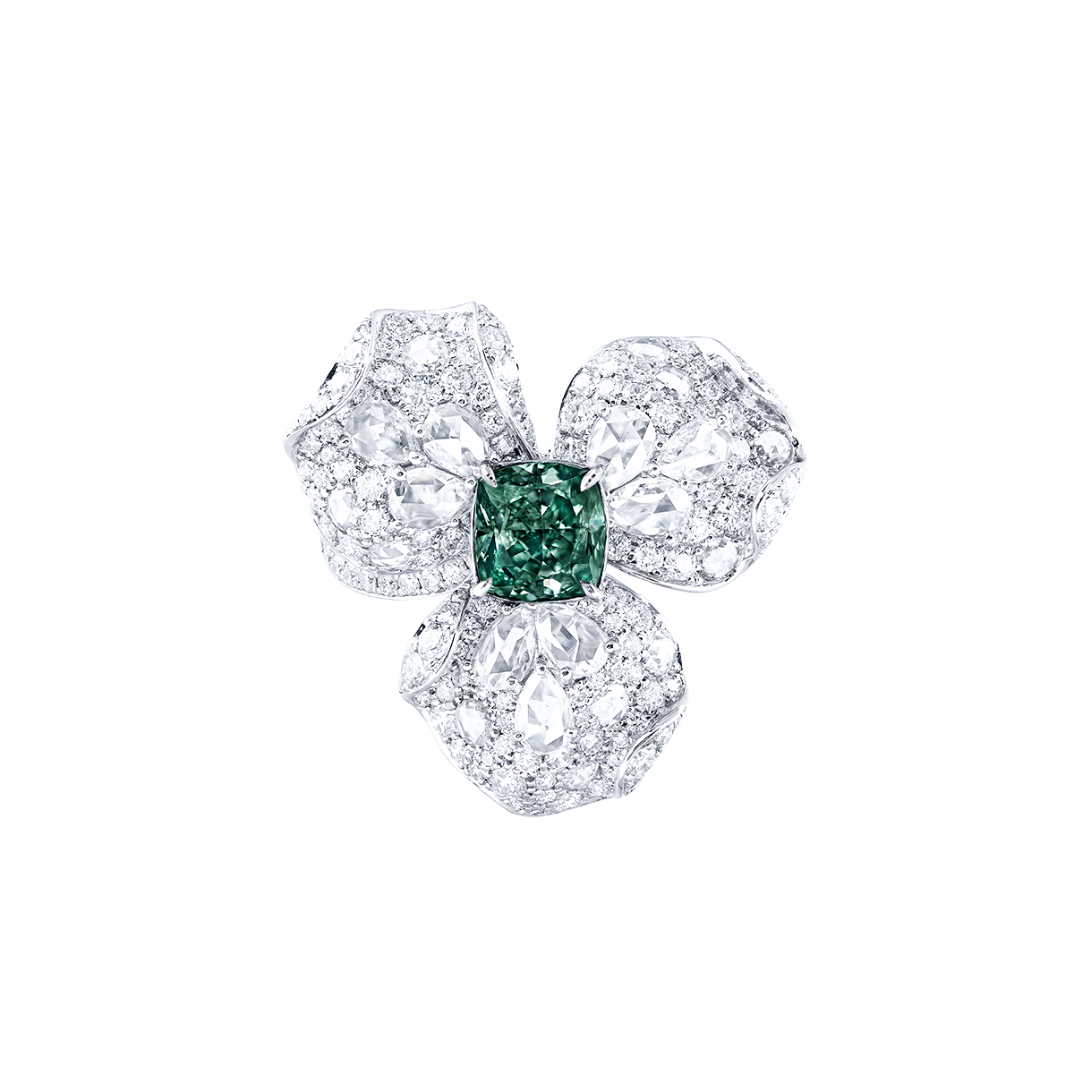 GIA 1.93 克拉 深彩綠鑽鑽戒