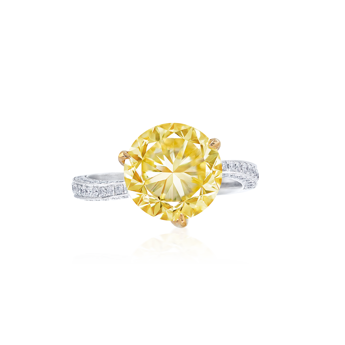 阿波羅之冠 濃彩黃鑽鑽戒 4.15 克拉