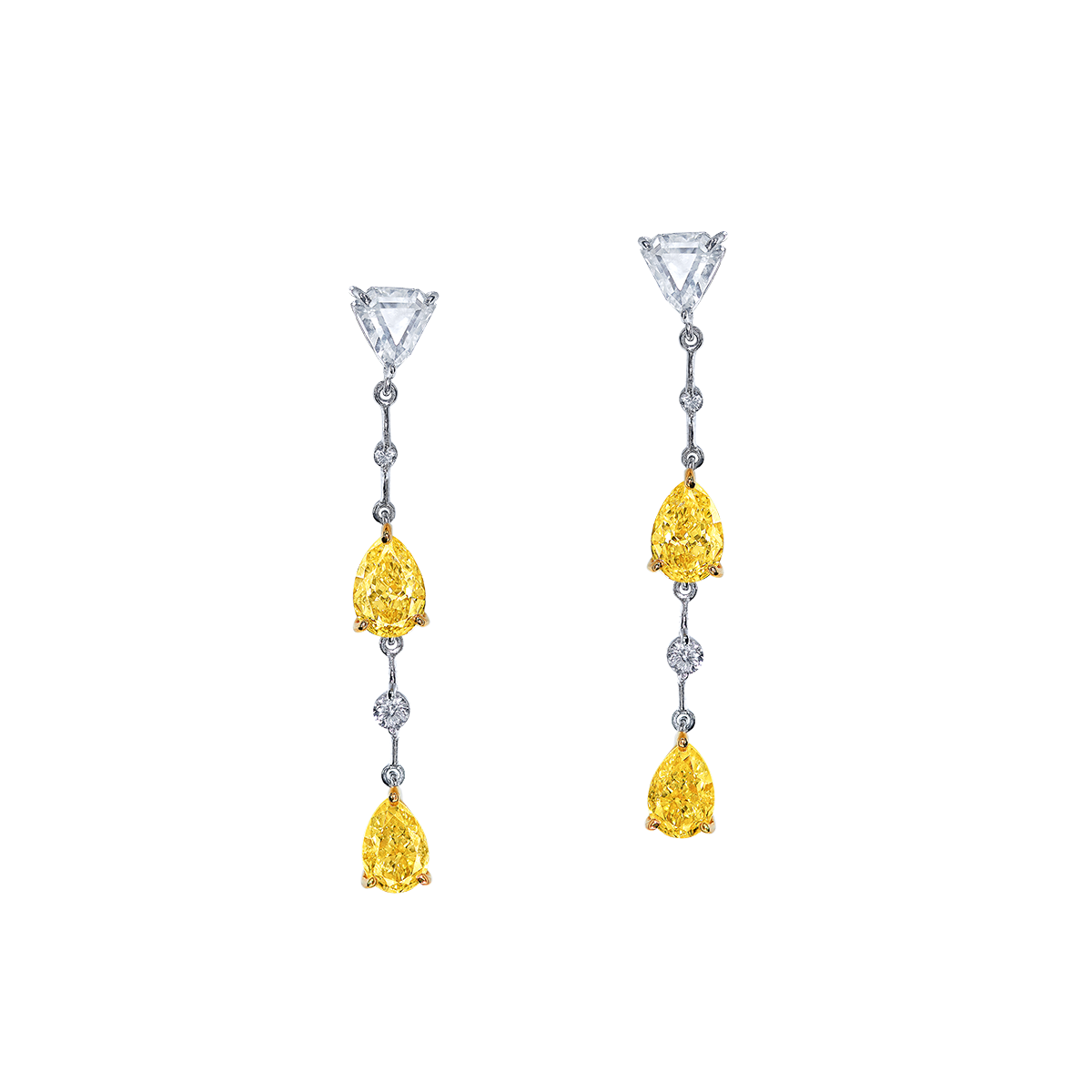 GIA 2.02克拉 黃鑽鑽石耳環