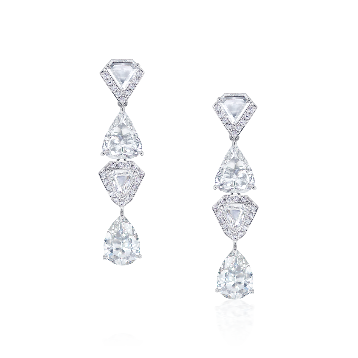 4.03克拉 白鑽鑽石耳環