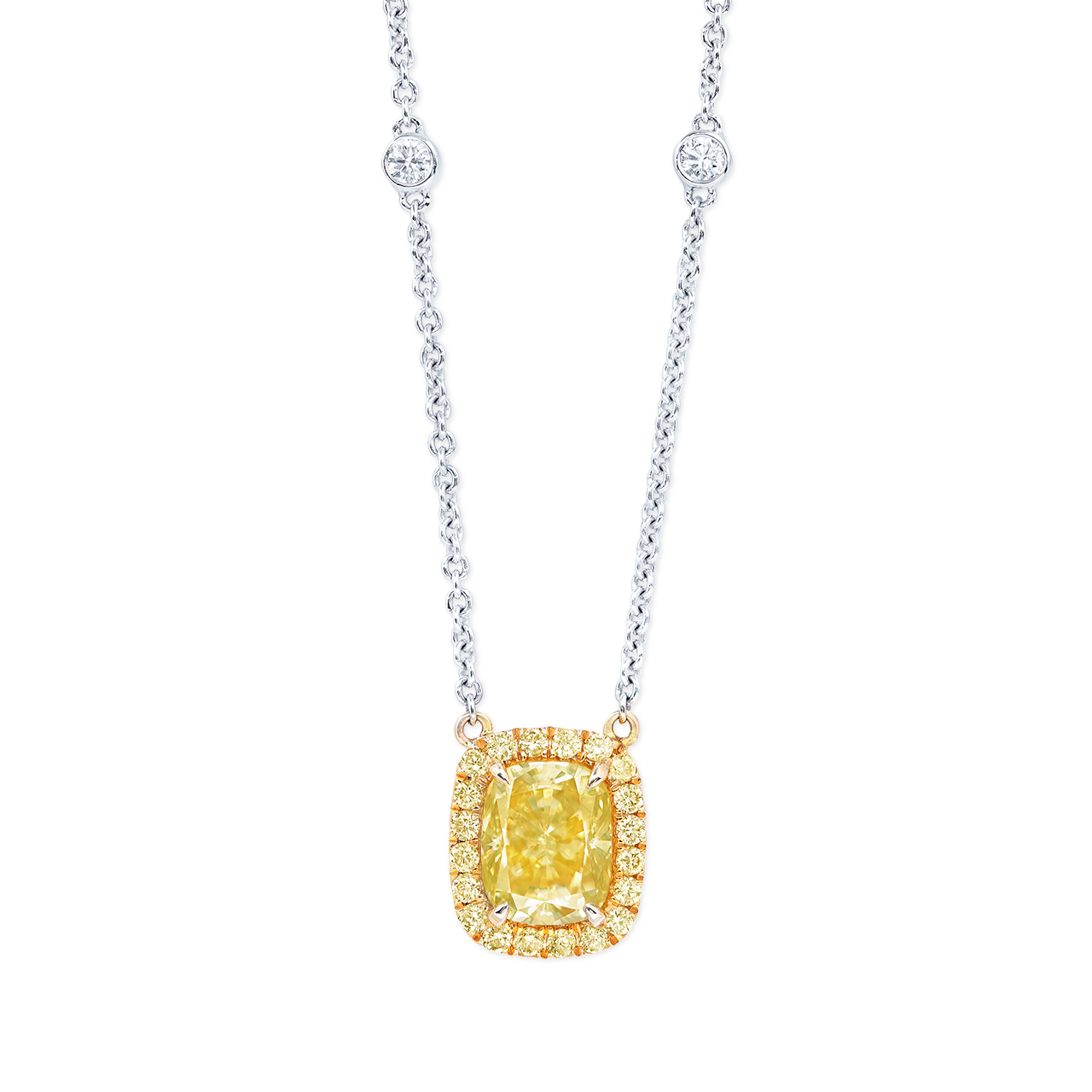 1.71克拉 ALROSA深彩黃鑽套鍊