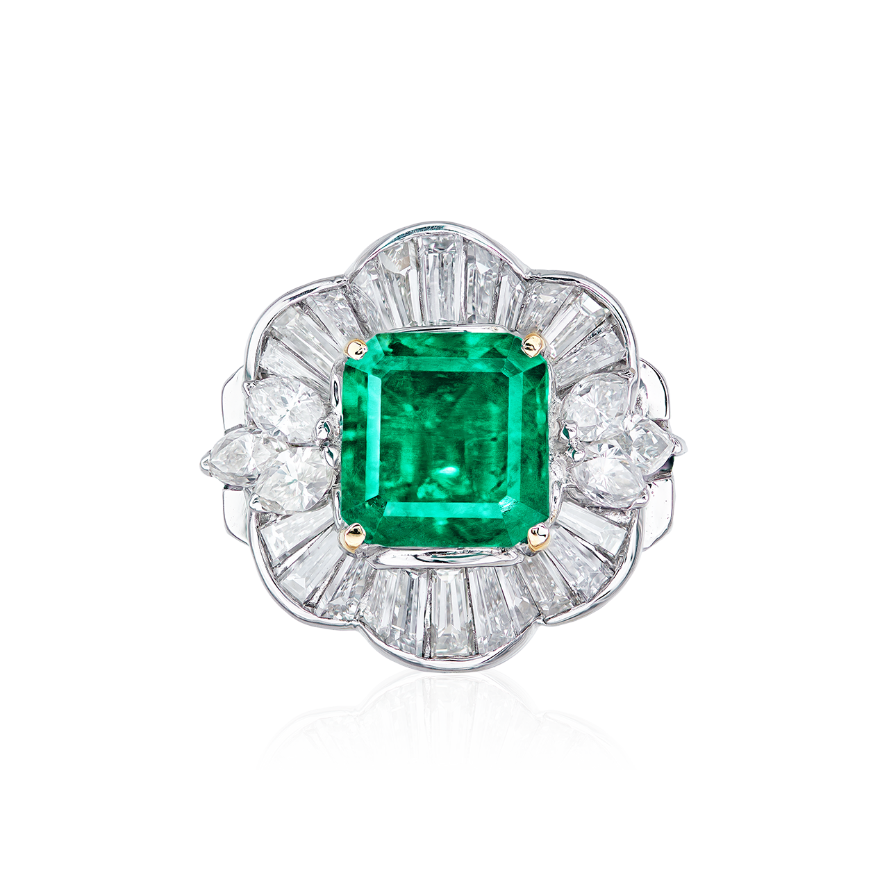 2.347克拉 哥倫比亞艷彩祖母綠鑽戒