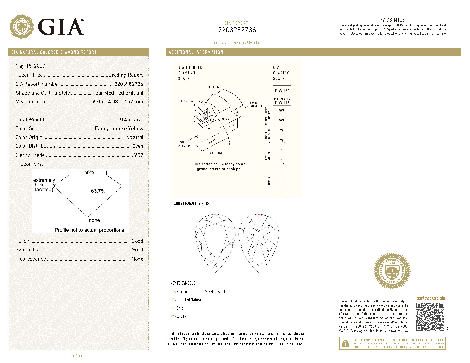 GIA 3.03克拉 濃彩黃鑽耳環