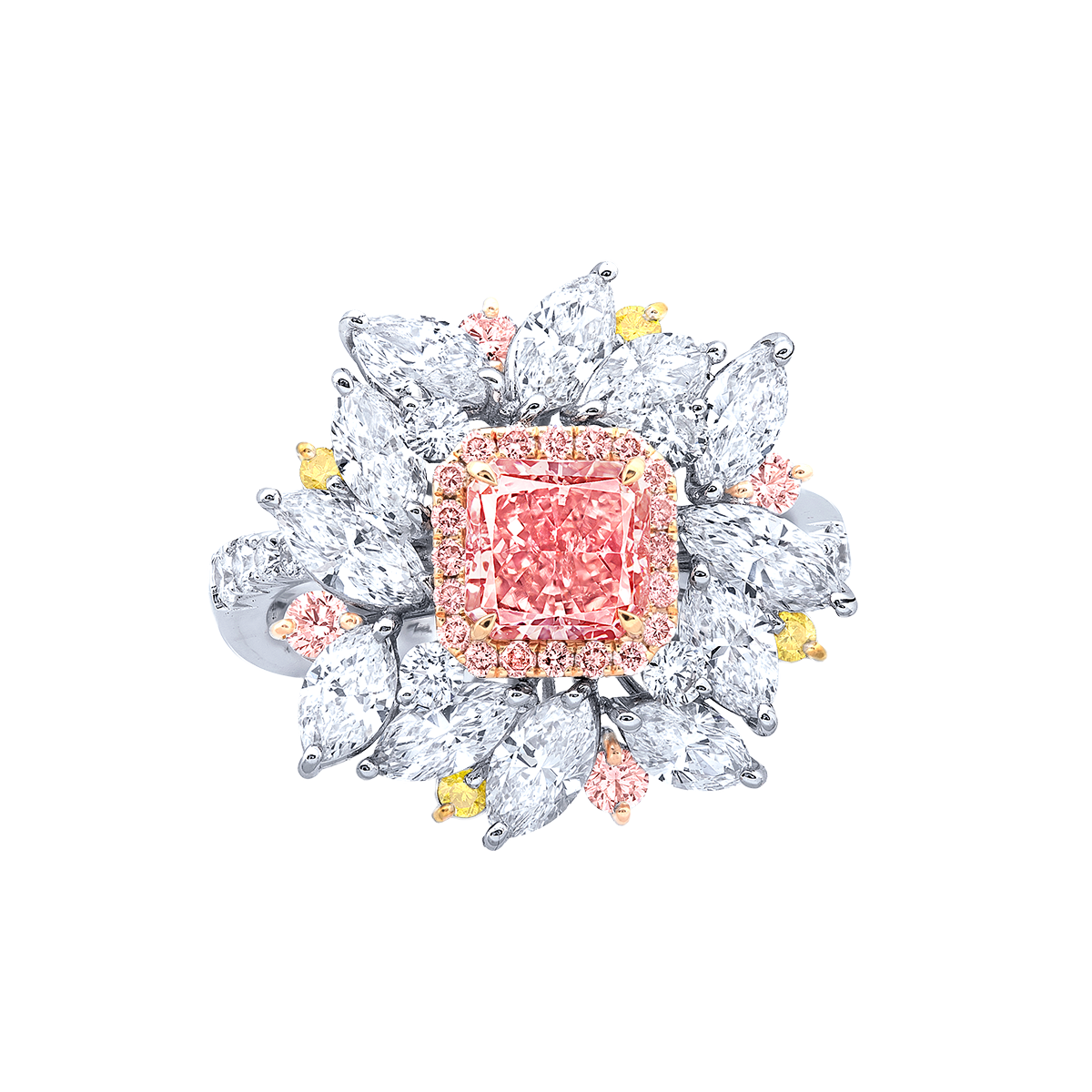 阿蓋爾 1.11克拉 橘粉鑽鑽戒